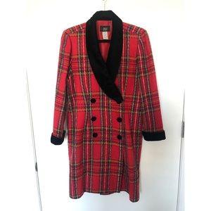 Bold red plaid jacket